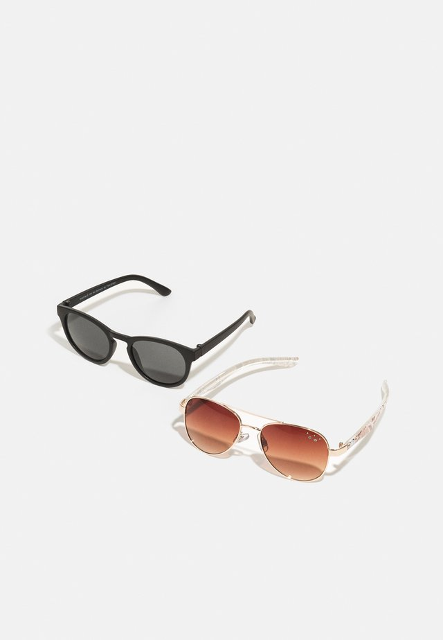 SUNGLASSES 2 PACK UNISEX - Lunettes de soleil - gold colour/pack with black