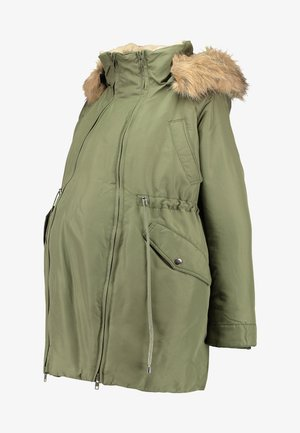 DOUBLE ZIPPER PADDED PIPING - Cappotto invernale - green