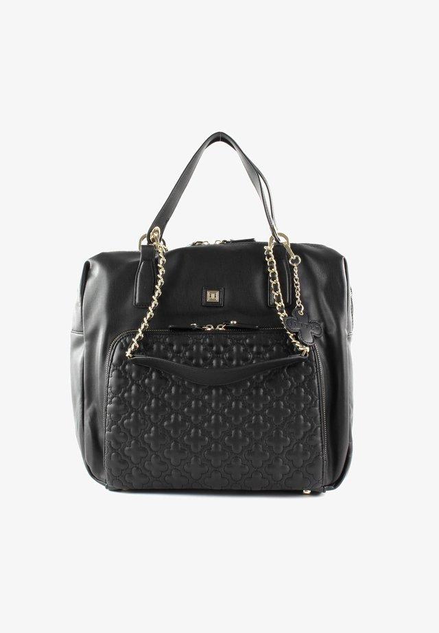 Handbag - black / shiny gold