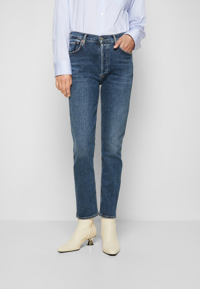 CHARLOTTE - Straight leg jeans - dance floor/dark blue