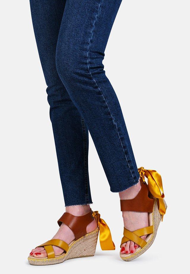FIONA  - Wedge sandals - yellow
