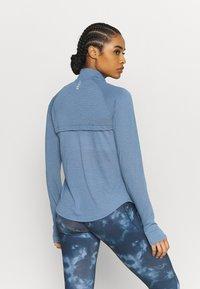 Under Armour - STREAKER HALF ZIP - Long sleeved top - mineral blue - 2