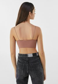 Bershka - Top - brown - 2