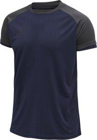 Hummel - Basic T-shirt - marine/asphalt - 1