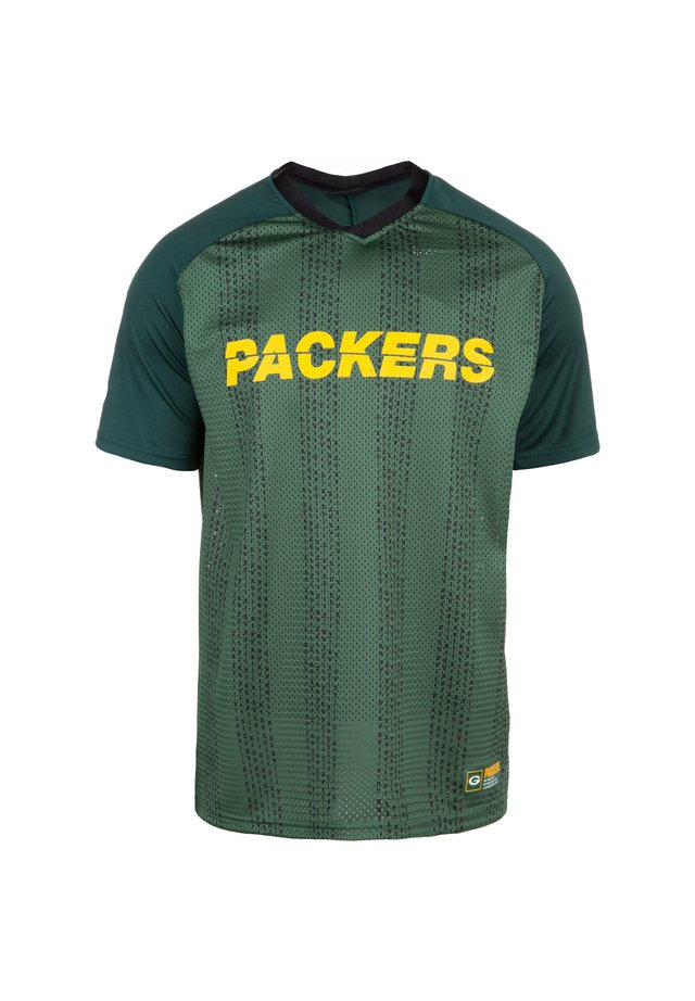 NFL GREEN BAY PACKERS STRIPE OVERSIZED T-SHIRT HERREN - Fanartikel - dark green
