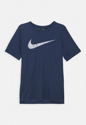 CORE - Print T-shirt - midnight navy/white