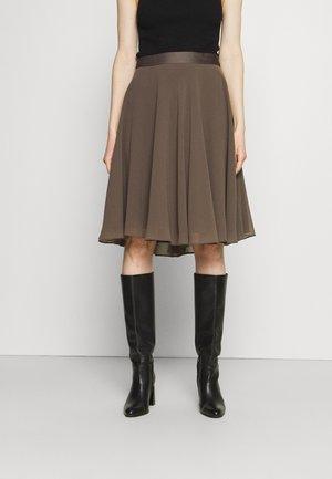 SKIRT - A-line skirt - taupe