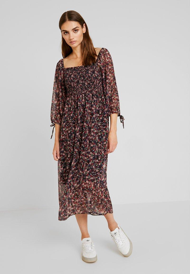 New Look - SHIRRED MIDI - Maxi dress - black pattern