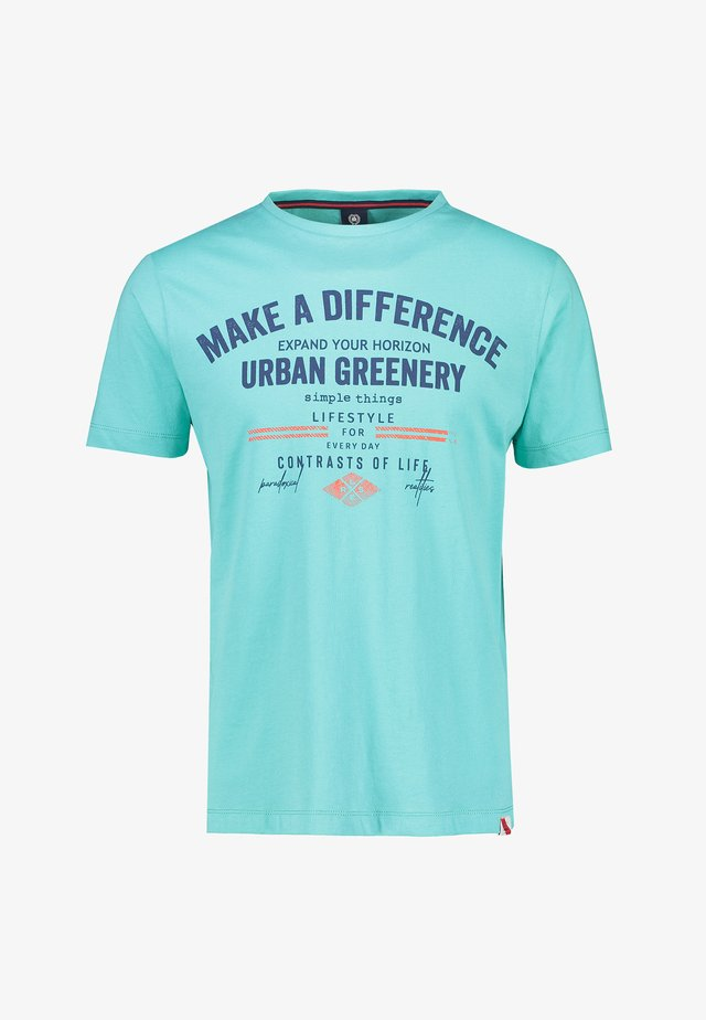MAKE A DIFFERENCE - T-shirt print - turquoise