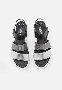 Gabor - Platform sandals - silber/stone/schwarz - 5