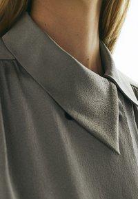 Massimo Dutti - Button-down blouse - silver - 4