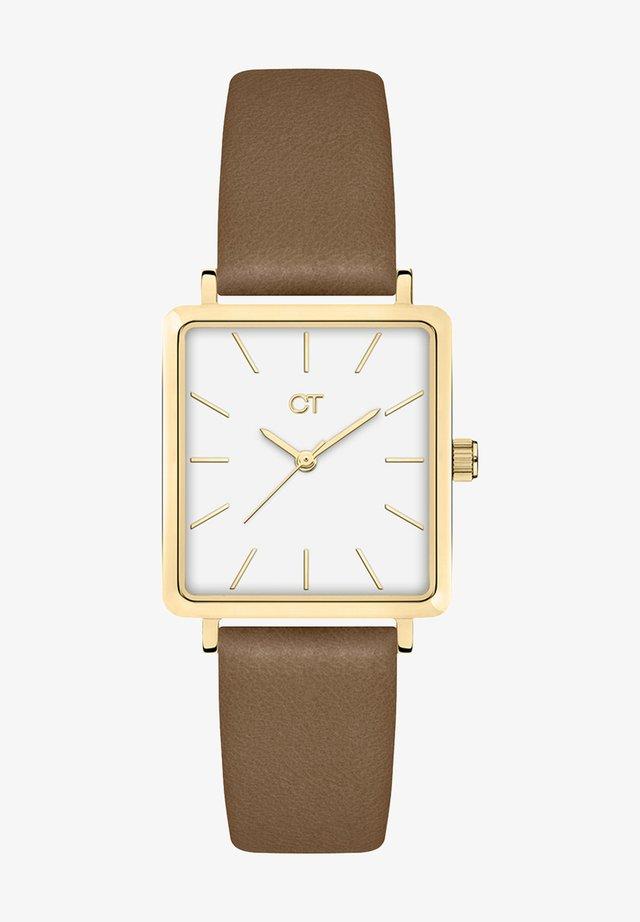 Watch - gold/braun