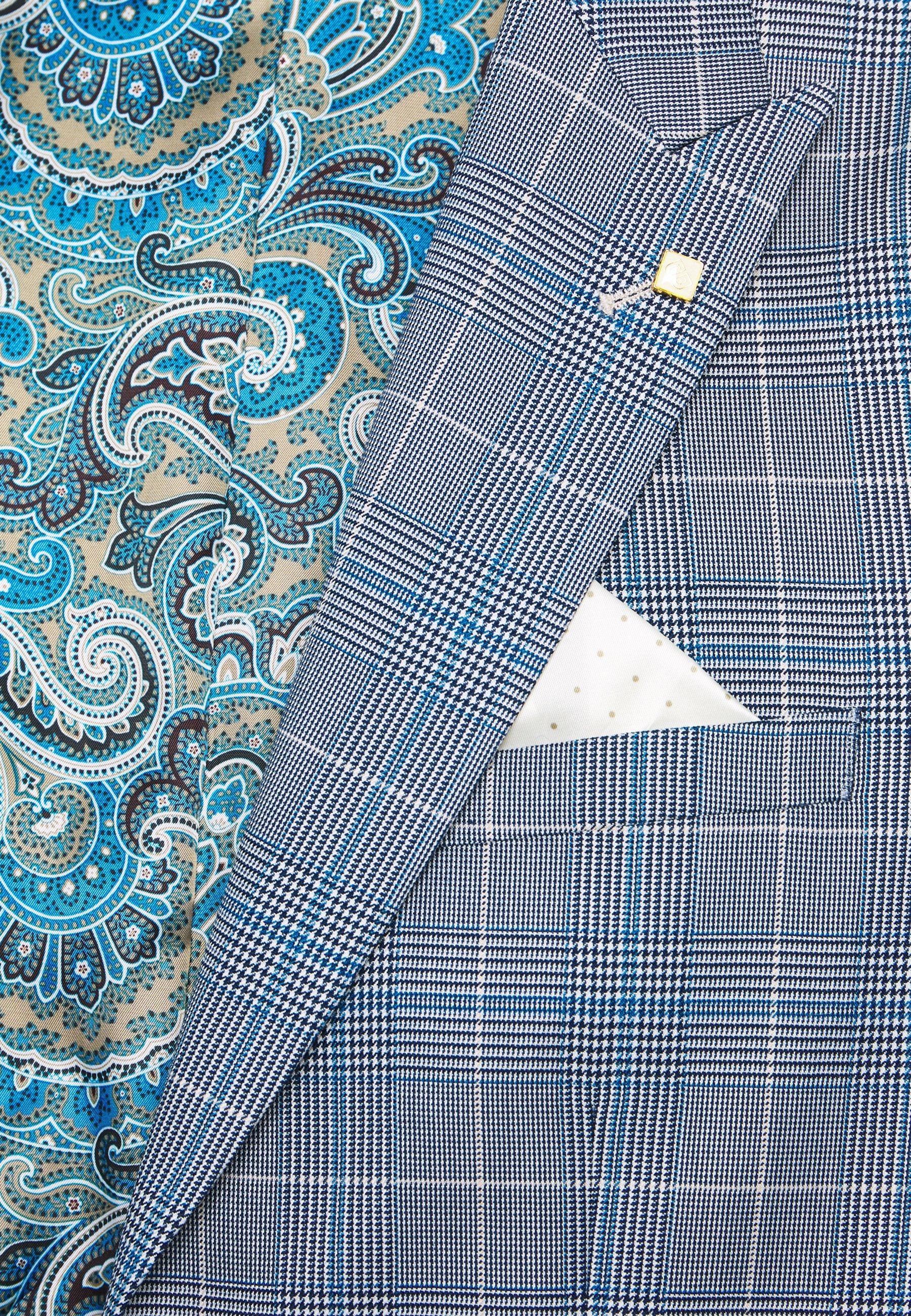 Burton Menswear London LIGHT POW CHECK - Marynarka garniturowa - blue - Odzież męska 2020