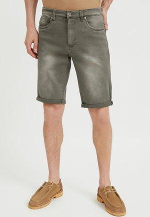 Short en jean - dark green
