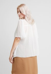 New Look Curves - DOBBY TIE DETAIL - Blouse - off white - 2