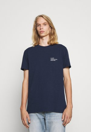 DUSTY EMBROIDERY THOR - T-shirts med print - navy