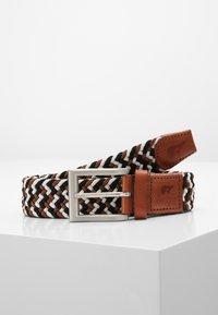 Slopes&Town - Braided belt - black/white/brown - 0