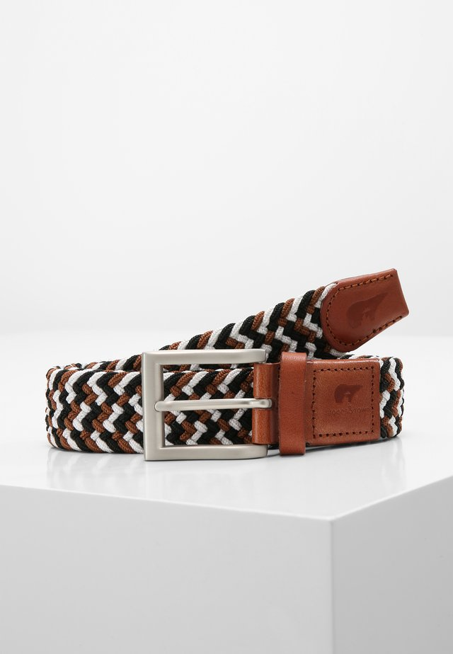 Ceinture tressée - black/white/brown