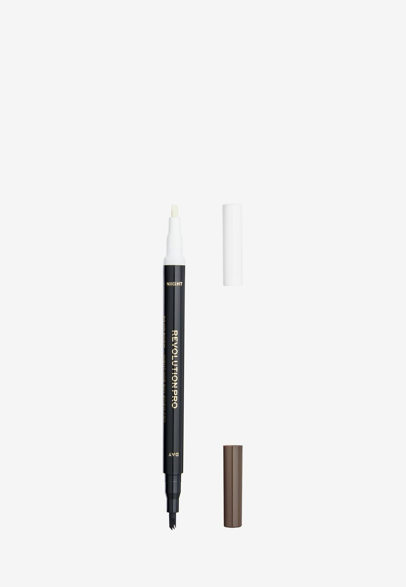Revolution PRO - 24HR DAY & NIGHT BROW PEN - Eyebrow pencil - warm brown