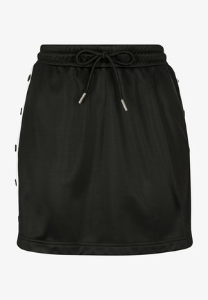 LADIES TRACK SKIRT - A-linjainen hame - black/white