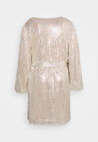 Glamorous Curve - VNECK WRAP DRESS - Cocktail dress / Party dress - nude/silver - 1