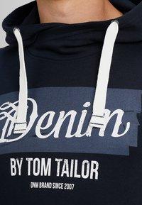 TOM TAILOR DENIM - HOODY WITH PRINT HOOD - Hoodie - sky captain blue - 4