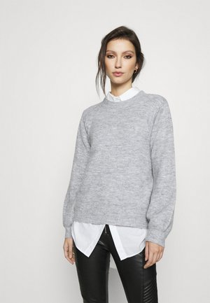 PCPERLA  - Stickad tröja - light grey melange