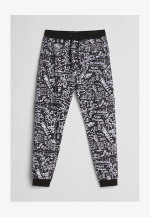 MIT GRAFFITI-PRINT - Spodnie treningowe - black