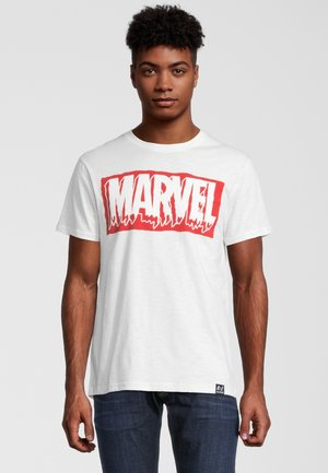 MARVEL SLIME LOGO VINTAGE - T-shirt print - weiß