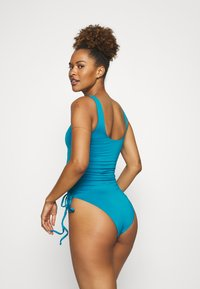 We Are We Wear - SOPHIA RUCHED SIDE SWIMSUIT - Swimsuit - blue - 2