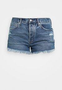 LOVING GOOD VIBRATIONS - Denim shorts - mid indigo