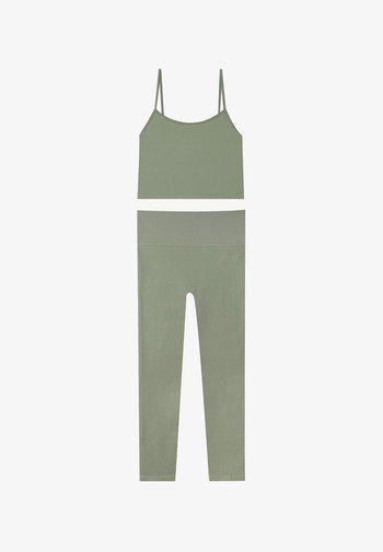 SET  - Leggings - Trousers - khaki