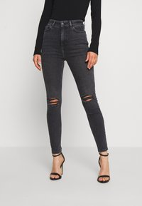 New Look - DISCO  - Jeans Skinny Fit - grey - 0