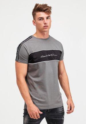 NOSTON - Print T-shirt - grey