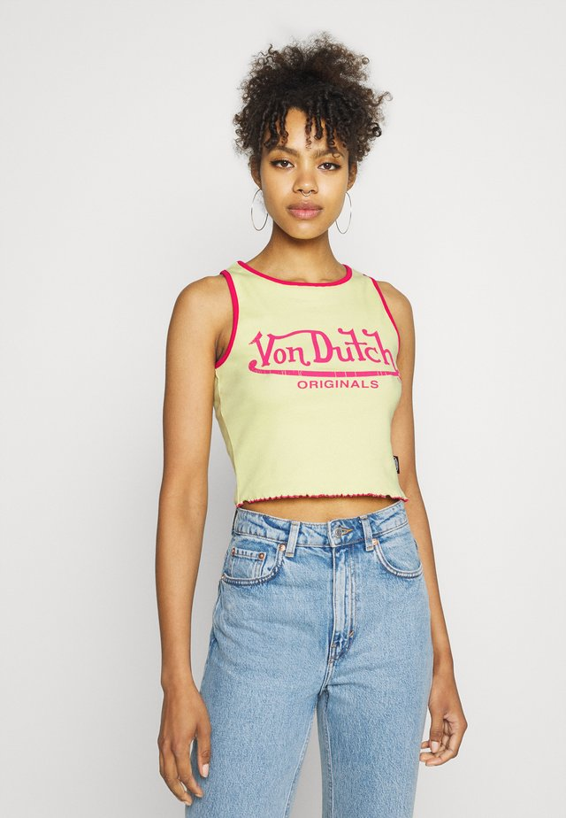 ASHLEY RACER CROPPED - Top - yellow