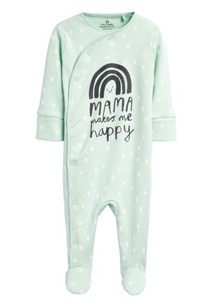 TEAL RAINBOW MAMA SLEEPSUIT (0-18MTHS) - Baby's sleeping bag - blue