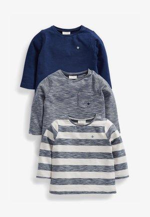 3 pack - T-shirt med print - blue