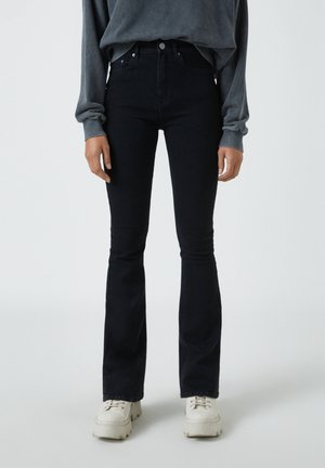 Jean bootcut - mottled black