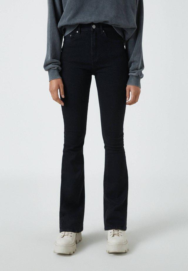 Bootcut jeans - mottled black