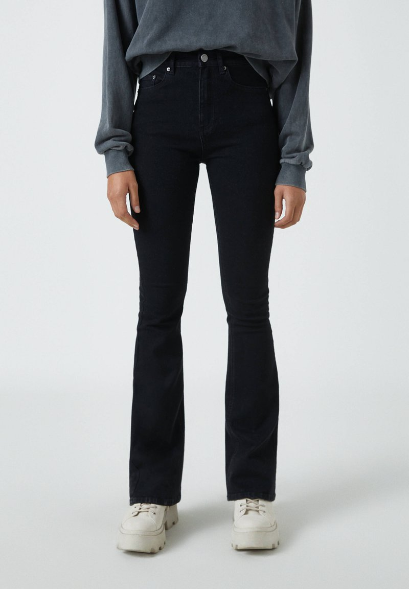 PULL&BEAR - Jean bootcut - mottled black