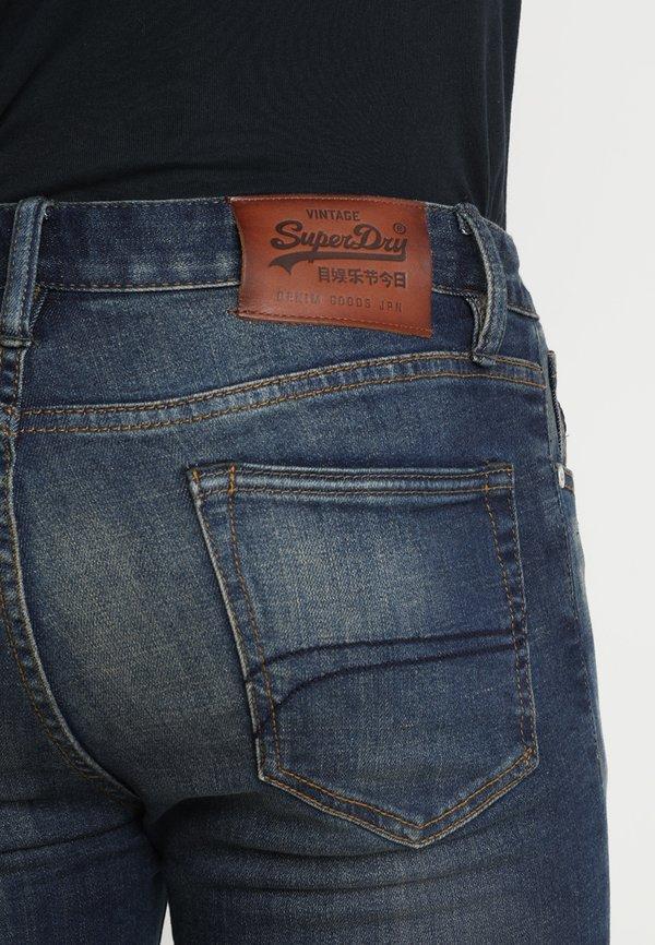 Superdry TYLER - Jeansy Slim Fit - antique vintage/ciemnoniebieski Odzież Męska HRVX