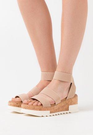 PORTSEA - Sandály na platformě - oatmeal