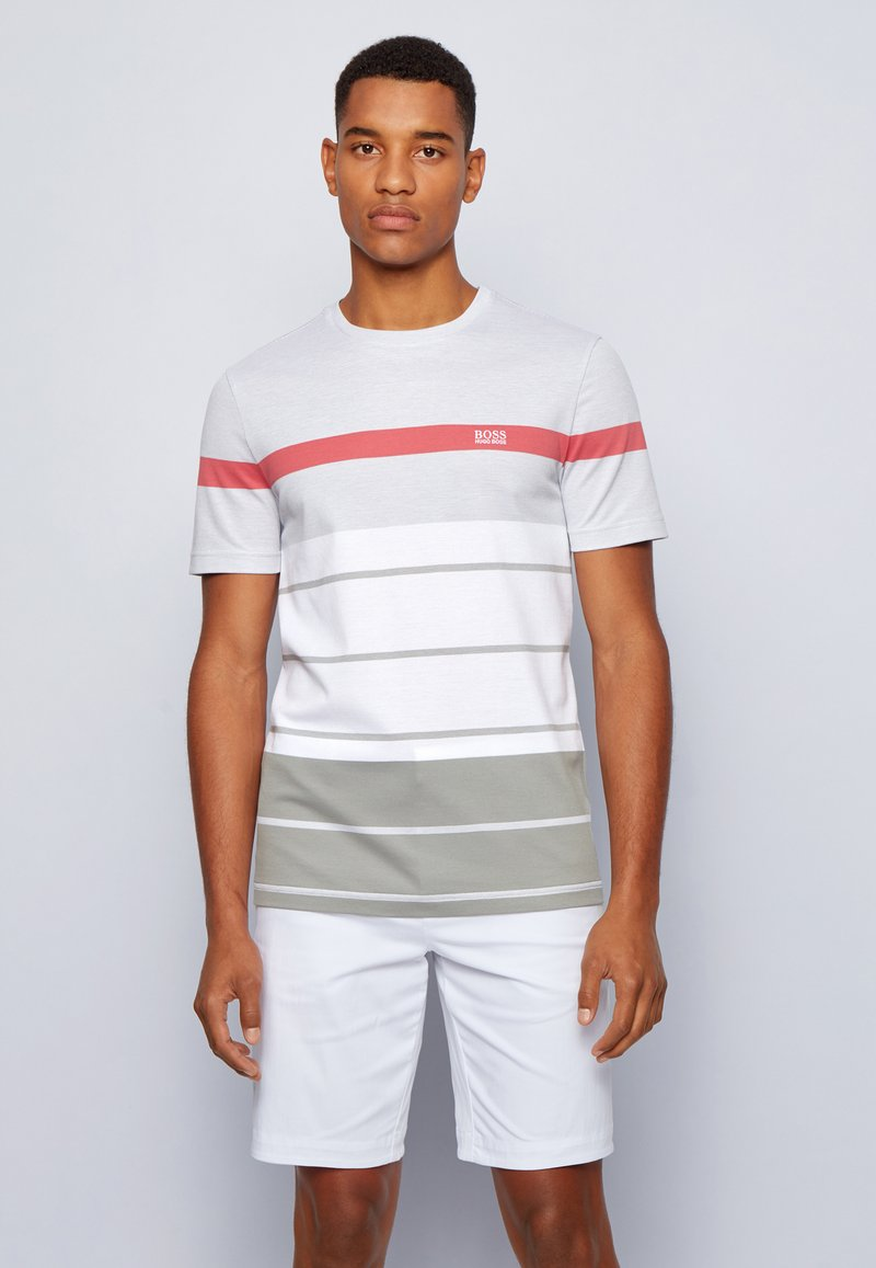 BOSS ATHLEISURE - Print T-shirt - grey