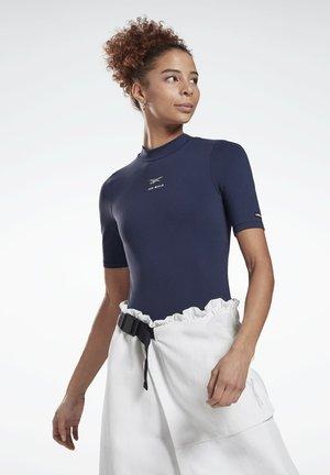 LES MILLS® SHORT SLEEVE BODYSUIT - T-shirt print - blue