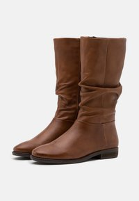 Steven New York - LYANA - Vysoká obuv - cognac - 2