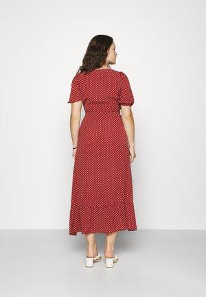 VMSAGA WRAP ANKLE DRESS - Maxi šaty - chili oil
