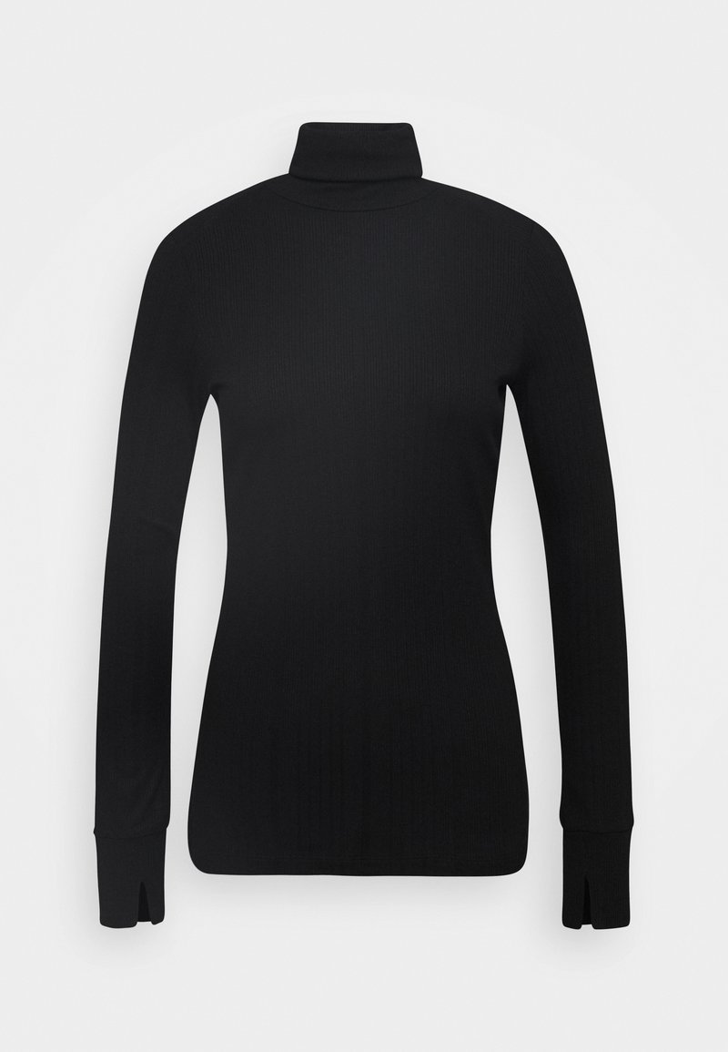 Marc O'Polo PURE - TURTLENECK  LONGSLEEVE FITTED IRREGULAR STRUCTURE - Long sleeved top - pure black
