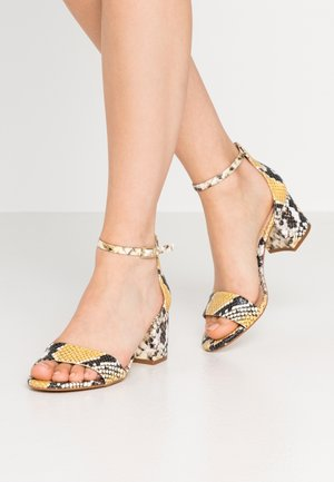 WIDE FIT VILLAROSA - Sandals - other yellow