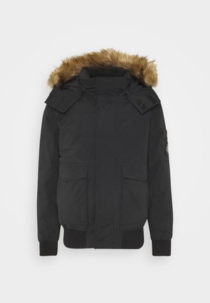 TRIMMED JACKET - Daunenjacke - black