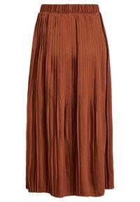 Vila - VISYLLA PLISSE HW MIDI SKIRT/SU - Pleated skirt - tobacco brown - 1